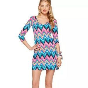 Lilly Pulitzer Gretchen Chevron Print Dress XS